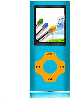 Ueleknight MP3 / MP4 Player con a Tarjeta Micro SD de 32GB-Azul