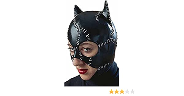 bd1e3a4e5d51 Amazon.com: R12442/51 Latex Catwoman Mask: Clothing