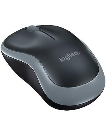 Logitech M185, Ratón inalámbrico, Óptico, 2.4 GHz, USB, Negro