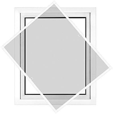Fliegengitter in verschiedenen Gr/ö/ßen ausw/ählbar Insektenschutz f/ür Fenster Basic mit Alurahmen in Wei/ß Braun oder Anthrazit und Fiberglas-Gewebe in Schwarz Bausatz zu Selbstmontage