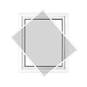 Montaje sin perforaci/ón JAROLIFT Profi Line Mosquitera con marco de aluminio para ventana 110cm x 150cm plateada