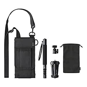 Sony VCT-MP1 - Pack de accesorios para cámara con Monopie, minitrípode y bolsa de transporte, color negro