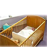 White Safababy Sleeper Feet to Foot Position Cot Divider BNIB White