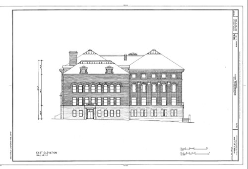 Historic Pictoric Blueprint Diagram HABS Ill,10-URB,1- (Sheet 12 of 16) - University of Illinois, Engineering Hall, Urbana, Champaign County, IL 12in x 08in