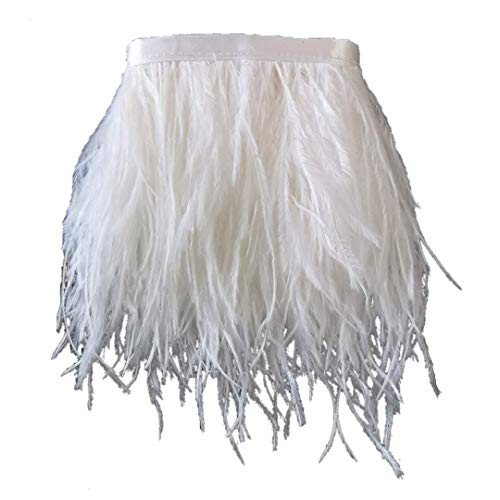 White Fur Skirt - Sowder Ostrich Feathers Trims Fringe with
