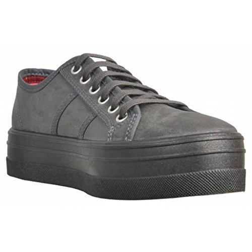 Grigio Donna Plataforma Blucher Antelina Sneaker Victoria U7IX7