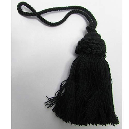 Conso Trim Tassel 3' Bell Black 4-1/2' Loop 021907 - 3 Tassel Bell