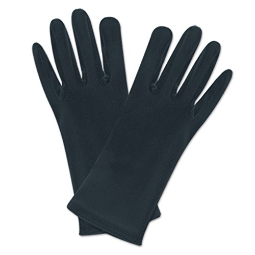 Beistle 60726 BK Theatrical Gloves Black