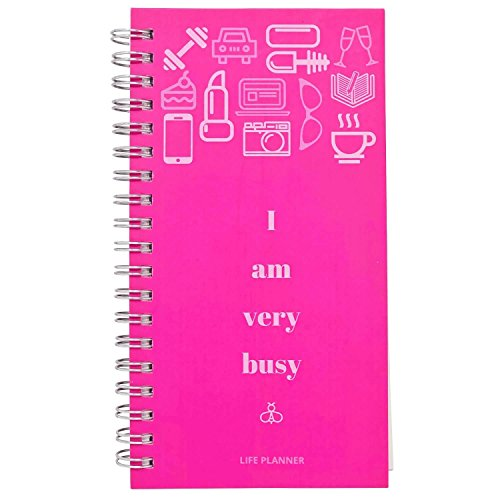2018 Planner - Planners 2018- Weekly Daily Monthly Pocket Calendar- Undated Passion Organizer- Wedding Book-Hard Cover Personal Agenda- I Am Very Busy-7X3.5 in Mini Travel Sized Datebook