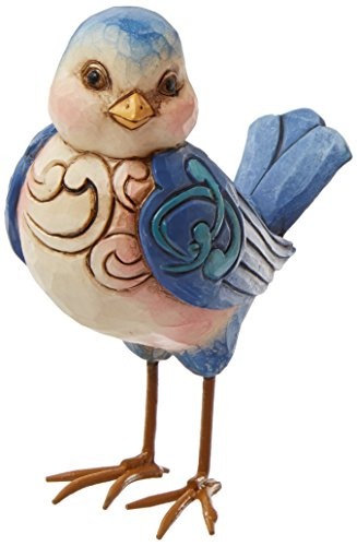 Jim Shore Heartwood Creek Mini Bluebird Figurine, 3-1/2-Inch