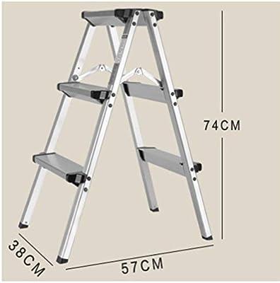 Dfghbn Escaleras Telescópicas Escalera Plegable 2/3 Banda de rodamiento - Escalera Plegable portátil con pasamanos de Seguridad Extra Grande Pasos Apoyo Las Escaleras Telescópicas: Amazon.es: Hogar