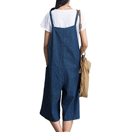 Damas Retro Con L Harem Casual Pantalones 2xl Largo Baggy Peto Traje Jeans Total Overoles Adelina Monos Bolsillos Blau Ropa d5x0Rd