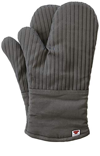 Big Red House Oven Mitts, with The Heat Resistance of Silicone and Flexibility of Cotton, Recycled Cotton Infill…