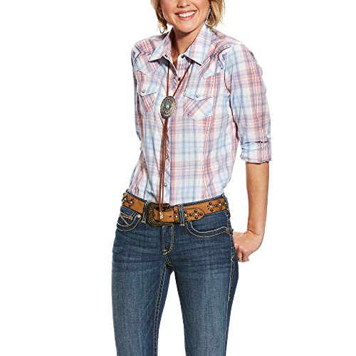 (ARIAT Women's Real Lovely Snap Shirt Multi Size Small)