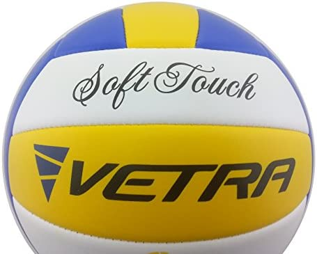 Vetra Volleyball Soft Touch Ball Official Yellow//Blue//White Outdoor Indoor Game