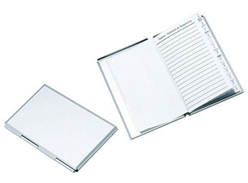 Ten Mini ADRESSBUCH Aluminium - 110x70 mm - cod. EL6810 - LAN. 11 cm - BRE. 7 cm - HOH. 1 cm by Varotto & Co.