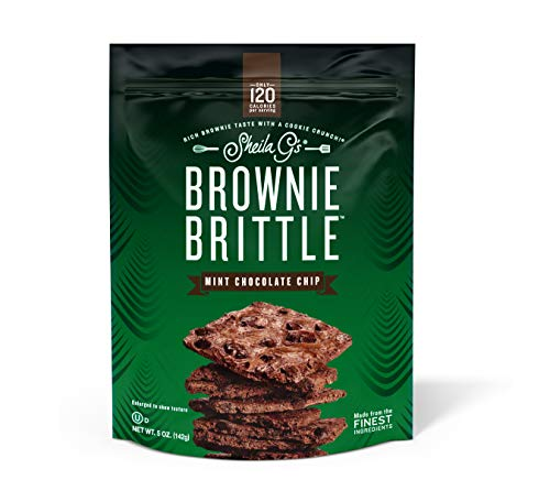 Brownie Brittle, 5 oz,  Mint Chocolate Chip (120 Calorieper oz), 6Count