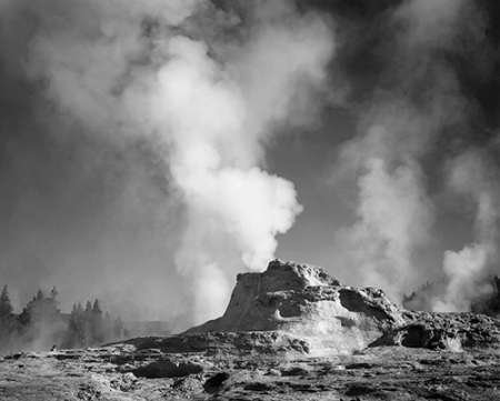 Posterazzi Poster Print Collection Castle Geyser Cove Yellowstone National Park Wyoming Ca. 1941-1942 Ansel Adams, (8 x 10), Multicolored