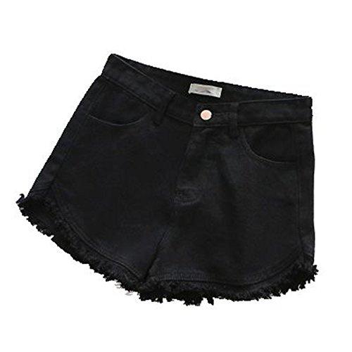 For-BiuT Ripped frayed Edge denim shorts women pockets shorts jeans NEW summer short