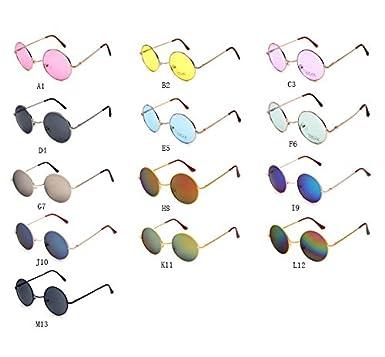 b2ed9469476 Clearance Sale!OverDose Unisex Women Men Ins Hot Round Frame Vintage  Mirrored Sunglasses Eyewear Outdoor Glasses with Storage Case( 1)   Amazon.co.uk  ...