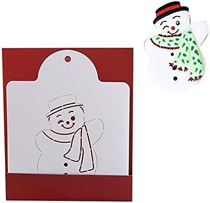 KABSJ Baking mould Serie de Navidad Quiche Tarta Cookie Cake Molde para Hornear Galletas panadería Respaldo raspado Molde Herramienta, 3pcs/Set, muñeco de ...