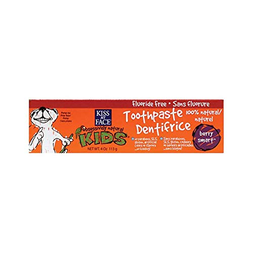 - Kiss My Face Gentle Fluoride Free Toothpaste for Kids-Berry Smart-4 oz