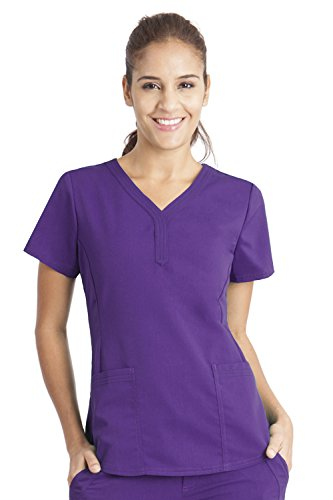 Purple Label by Healing Hands Scrubs Women's Jane V-neck 2 Pocket Top, X-Small - ()