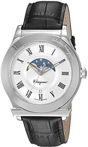 Salvatore-Ferragamo-Mens-FERAGAMO-1898-Quartz-Stainless-Steel-and-Leather-Casual-Watch-ColorBlack-Model-FBG010016