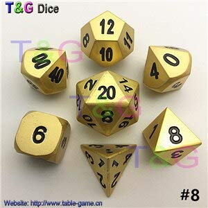Amazon com: Fricgore, Metal Dice Set D4 D6 D8 D10 D12 D20
