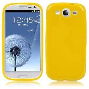 High-Tech Place–Carcasa de plástico flexible para Samsung Galaxy SIII–Amarillo