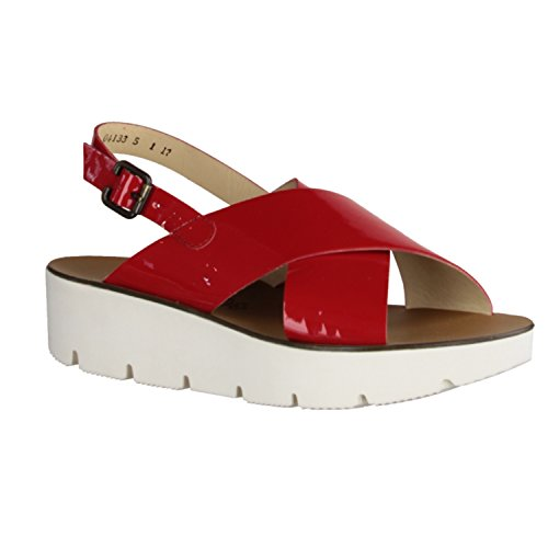 Paul Green 6989-022 09 - Sandalias de Vestir de Charol Para Mujer Rojo