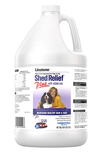 Lambert Kay Linatone Daily Food Supplement for Dogs and Cats Shed Relief Plus with Added Zinc - 1 Gallon