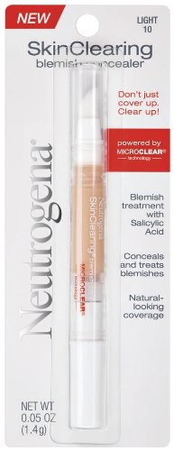 Neutrogena SkinClearing Blemish Concealer, Light 10 (Pack of 2)