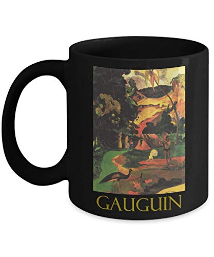 Landscape with Peacocks by Paul Gauguin - Ceramic Coffee Mug