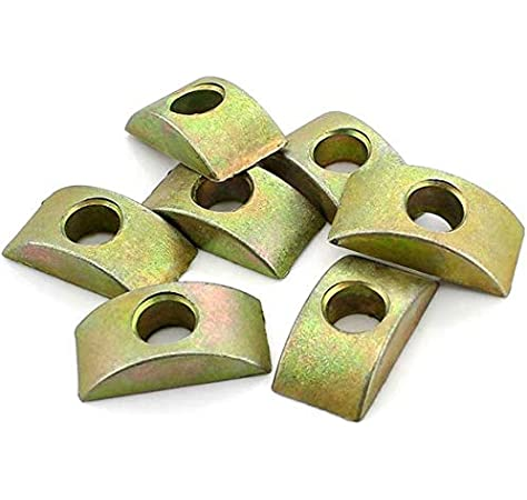 Alamic Half Moon Washer Furniture Nut Connector Nuts Spacer Washer Bronze Tone 8mm Hole Dia 12 Pcs