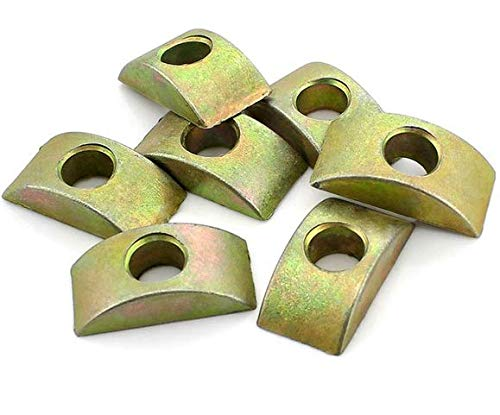 VNDEFUL 10PCS Alloy Half Moon Nut Furniture Connector, Nuts Spacer Washer Bronze Tone 8mm Hole Dia