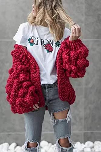 nbsp;suéter Mujer Tfdgh Para Punto De Cardigan Larga Manga Cálido Suéter 5wwqZx8a