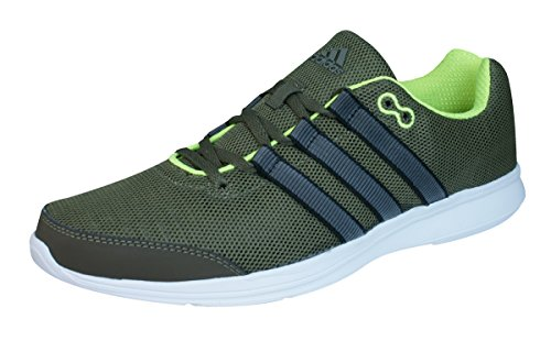 adidas Lite Runner Mens Running Sneakers/Shoes-Olive-8 (Adidas Bolt)