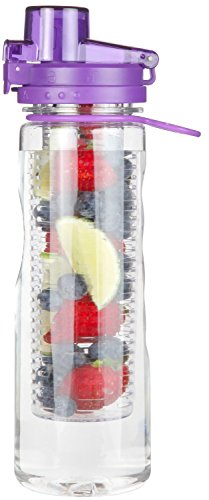Infusion Water Bottle Leak Proof Flip-top Sport Water Bottle BPA-Free Tritan 25...