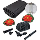 Koolscape 400 gal Liner Pond Kit with Solar Light / 9.50 x 11.25 x 17.00 Inches