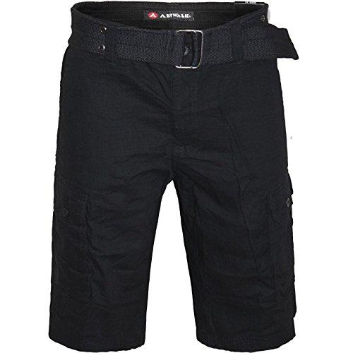 2k16july-mens-airwalk-cargo-combat-belted-multi-pocket-casual-summer-shortsblack-w32