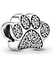 Pandora Jewelry - Sparkling Paw Print Charm in Sterling Silver with Clear Cubic Zirconia