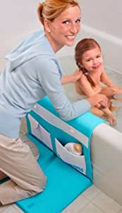 AQUATOPIA Safety Bath Time Comfy Cushioned Easy Kneeler with Skid Resistant Base, Detachable Elbow Rest and Organizer, Blue