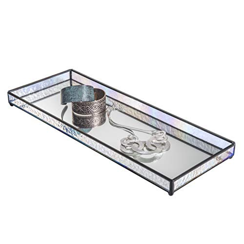 J Devlin TRA 103 Vanity Tray Glass Mirrored Jewelry Display Organizer 16