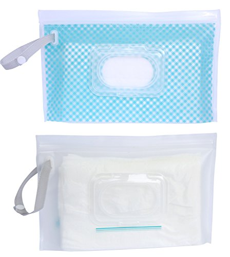 Butipod Flip Wipes Case 2 Pack (Standard Size Gingham/Clear)
