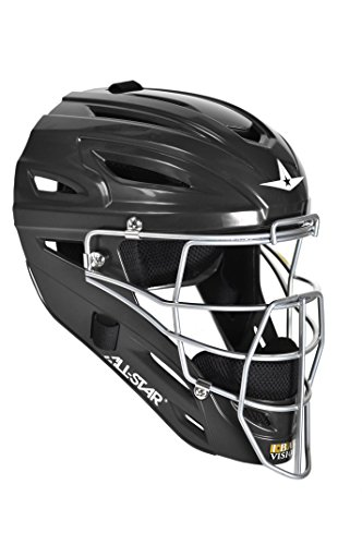 All-Star System Seven Youth Catcher's Helmet MVP2510 (Black) (Catchers 7 System)
