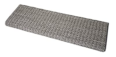 D DEAN FLOORING COMPANY, LLC. Premium Pet Friendly Tape and Adhesive Free Non-Slip Bullnose Premium Nylon Carpet Stair Treads - Slate Gray (3) 27 Inches Wide
