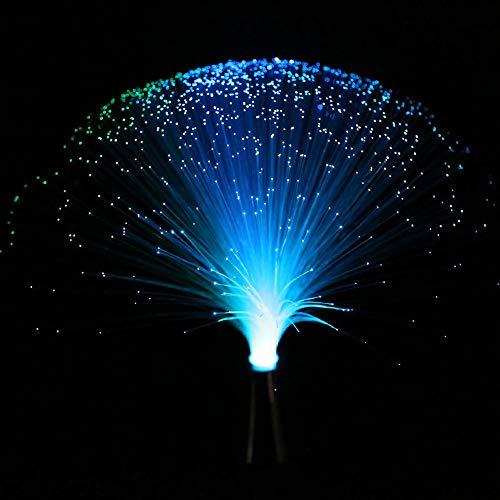 LED Multicolor Changing Fiber light Colourful Changing Fibre Optic Fountain Party Light Nightlight Lamp Calming Lamp Christmas Gift