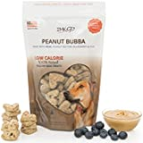 All Natural Dry Dog Training Treats - Low Calorie - Limited Ingredients Made in USA – Peanut Butter, Organic, Healthy, Balanced, Diet Treat Bag - Best for Small, Big Pets – GMO, Grain, Gluten Free