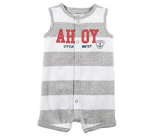 - Carter's Baby Boys' 3-Piece Ahoy Snap Up Romper Set Newborn Gray/White